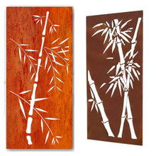 bamboo corten indoor screens & room dividers by laser cutting