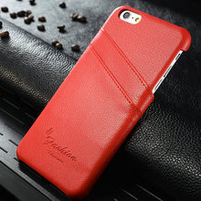 Luxury Real Leather Case for iPhone 6s plus, for iPhone 6 plus Back Cover, Hard Case Phone Case for iPhone 6s plus