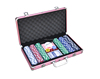 Factory supply 300 pcs gambling poker chip game set,deluxe poker chip set