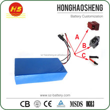 High capacity rechargeable 3s 18650 12v 50ah li-ion battery for scooter