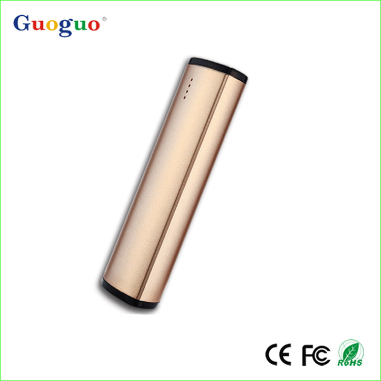 Promotional Gift Comfortable Handle Excellent Design Lipstick Size Power Bank 2600mah for Smartphone