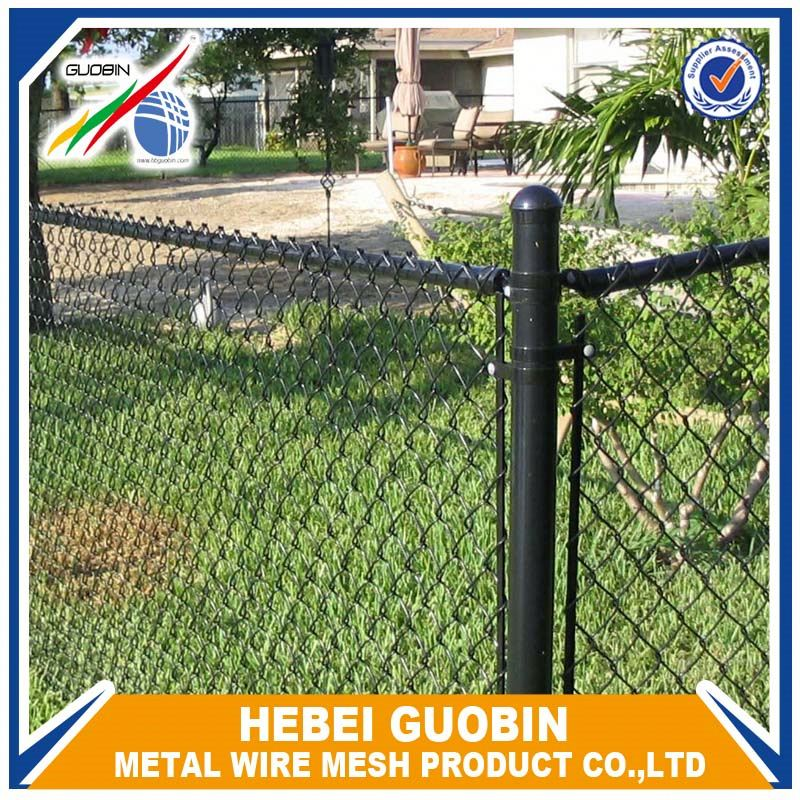 used green chain link artificial fence gates