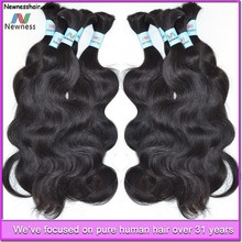100 percent raw virgin brazilian hair human hair for braiding unprocessed unweft brazilian hair bulk