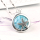 Good Quality Wholesale Larimar Jewelry Charm Pendant Sea Star 925 Sterling Silver Jewelry Women Fancy Pendant Necklace