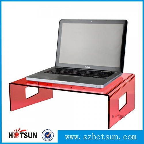 Fluorescent acrylic laptop riser stand with handle