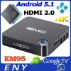 Factory original amlogic s905 quad core smart tv box support full HD 1080P 3d movie