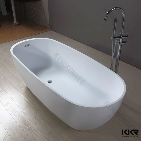 China Factory Oval Solid Surface Bathtubs / Very Small size Freestanding Bathtubs/ man made marble stone tubs