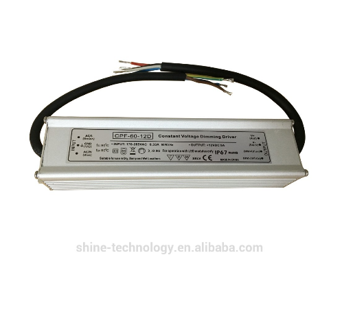 CPF-60-12D High quality110v/220v ac to dc power supply, 12v 0.33a 60w led dimmable driver power supply