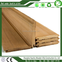 Canada red cedar solid wood panel for wood house and sauna room