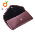 Custom leather Drop resistance leather sunglasses case