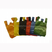 China custom printed plastic t shirt bags
