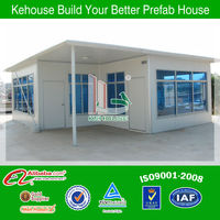 ready made house/prefabricated steel frame house low cost price