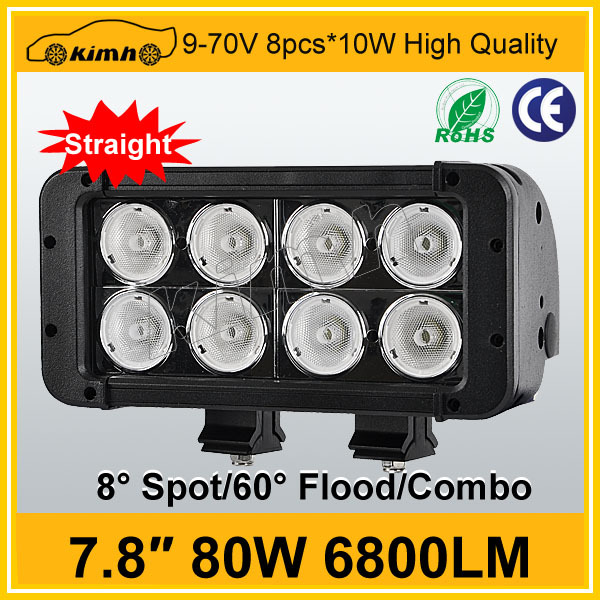 Best Auto Electrical System 6800LM 7.8'' 80W brand chip led flood light