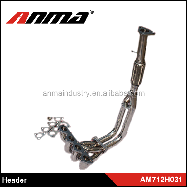 Manufacturer car exhaust header/stainless steel flexible exhaust pipe