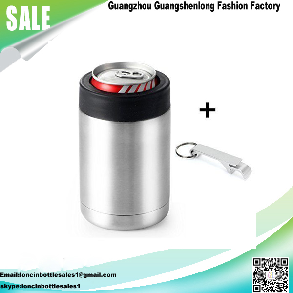 Stainless Steel Double Wall Vacuum Insulated 12 oz Can Cooler,12oz Beer Bottle Holder,Cola Can Insulator