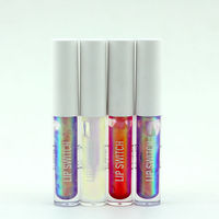 The beauty girl! 2015 New Design shining rainbow lip gloss!