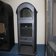 steel plate modern wood burning stove with oven