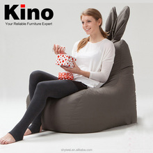 2015 New Modern Fashion Rabbit Bean Bag Chair and Cover Washable Lazy Sofa in Living Room ,Apperance Patent Beanbag Pouf