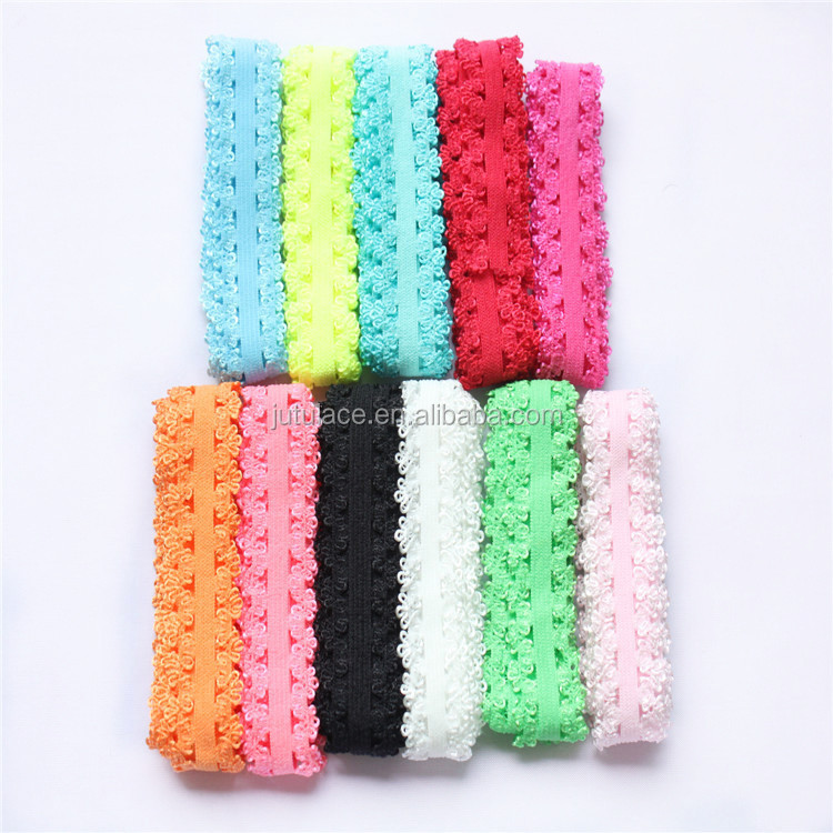 Wholesale FOE,hair band - fold over elastic -elastic headband-chiffon flower with elastic band in stock