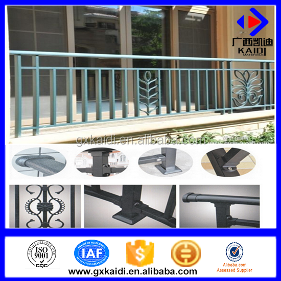 China manufacturers suppliers wrought iron handrails outdoor stairs/steel railing/Outdoor Wrought Iron Stair Railings