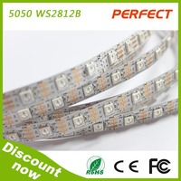 Ws2812b Led Pixel Strip Black non-waterproof SMD 5050 WS2812B led strip 300leds with CE,ROHS,UL led strip
