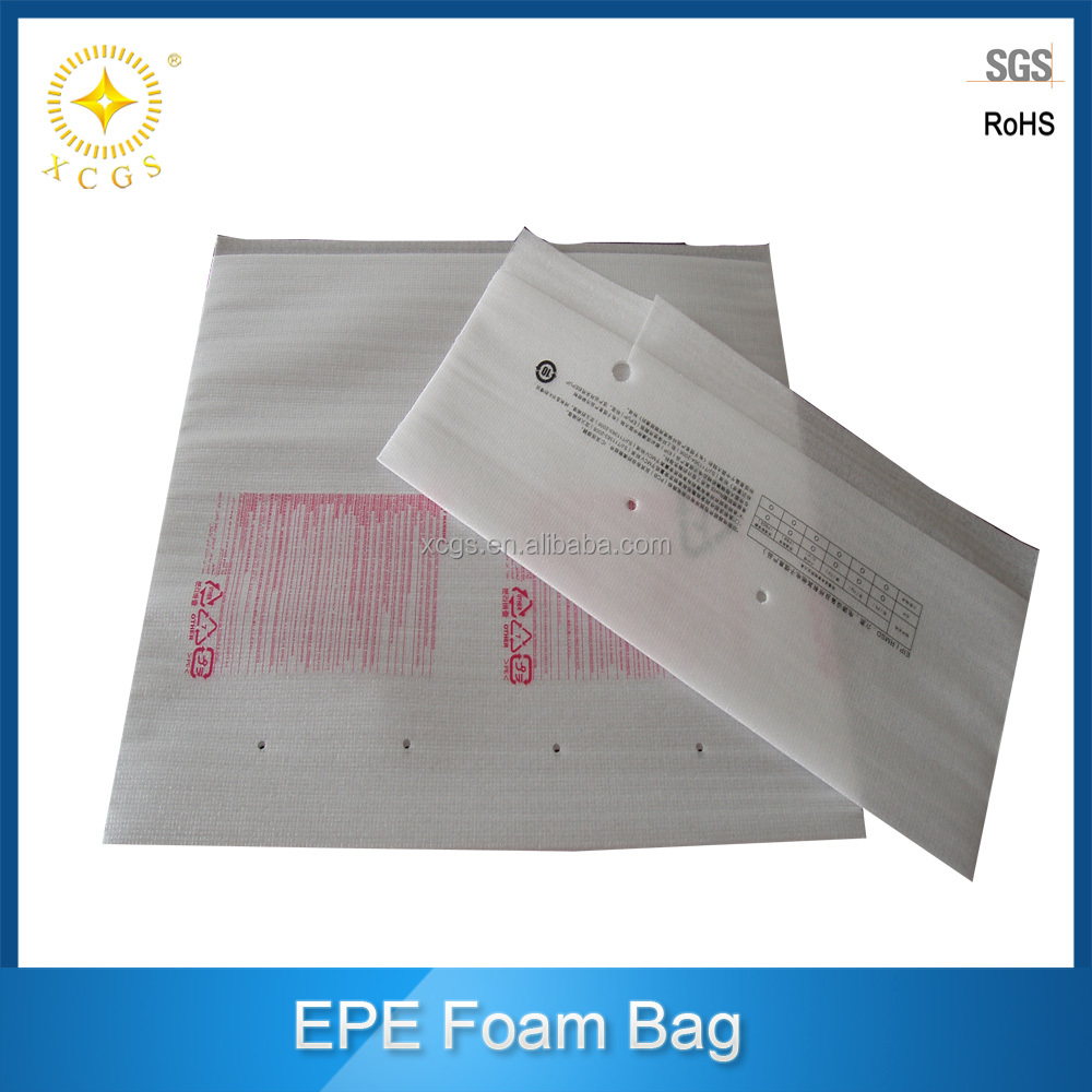 Custom printing epe foam pouch bag, epe foam packaging