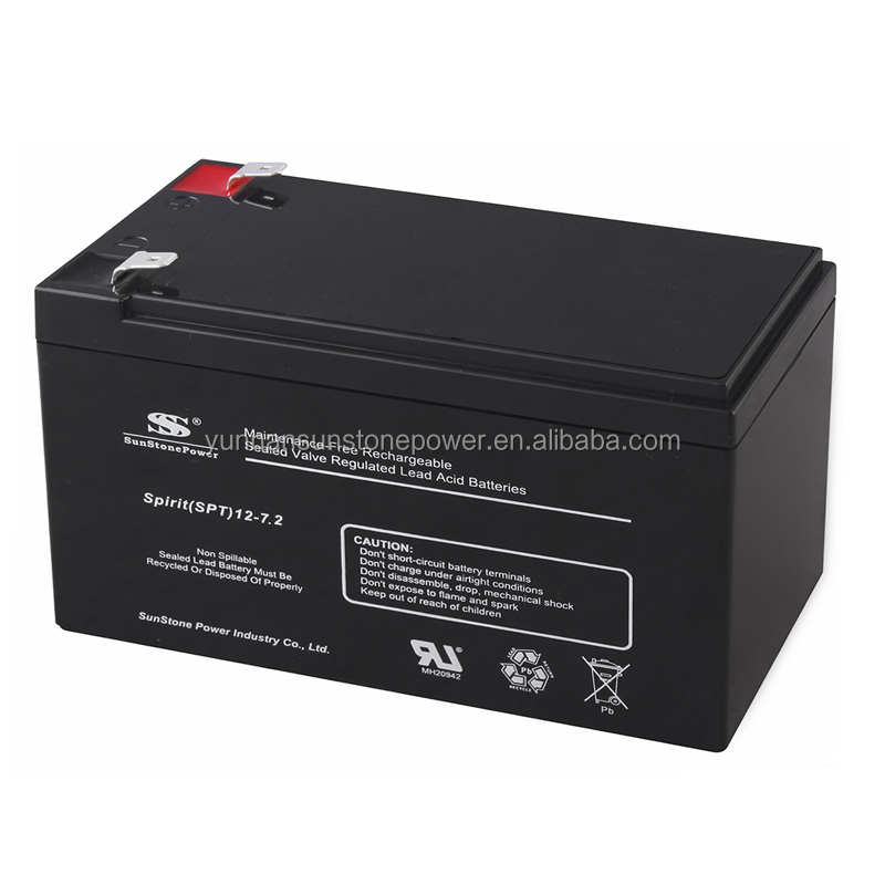 12-volt 7.2 ah sla sealed lead acid battery for solar lighting system