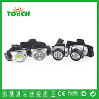 Professional High Quality 3 Mode Waterproof LED Headlamp Plastic Headlight or Head light for Riding Camping Outdoor