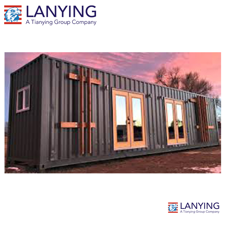 Shipping 40 ft luxury fully furnished prebuilt steel container home for sale