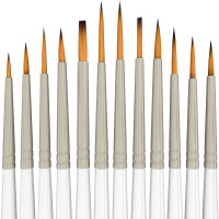 12 Miniature Fine Detail Painting Brush