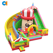 Giant funny inflatable slides game inflatable amusement park,inflatable fun city,inflatable jumping bouncer slide for kids