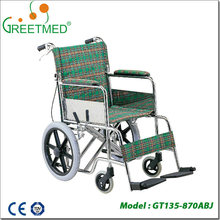 Factory direct sales fashionable wholesale manual wheelchair with high back
