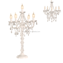 5 Light Wedding Table Decoration Crystal Floor Chandelier Lamp