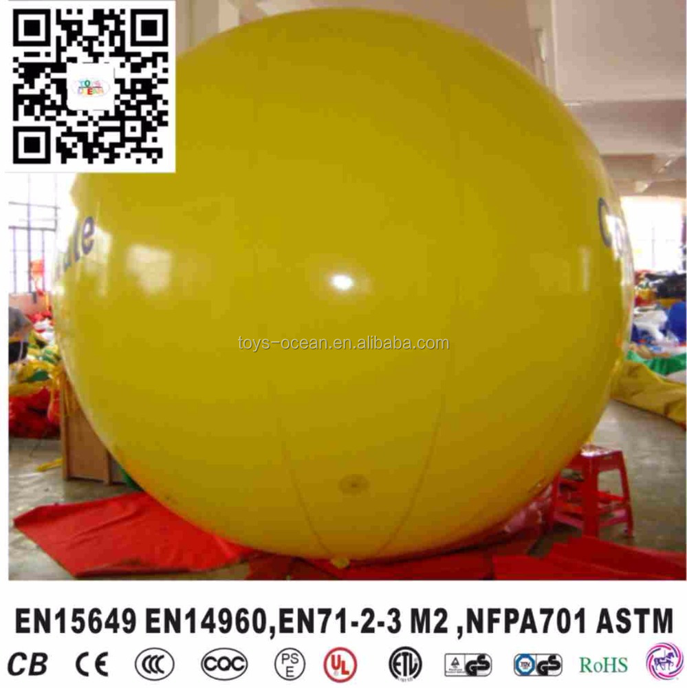 Commercial Advertising Promotion Inflatable Helium Sky Round Airship Blimp Floating Balloon Colorful Customized