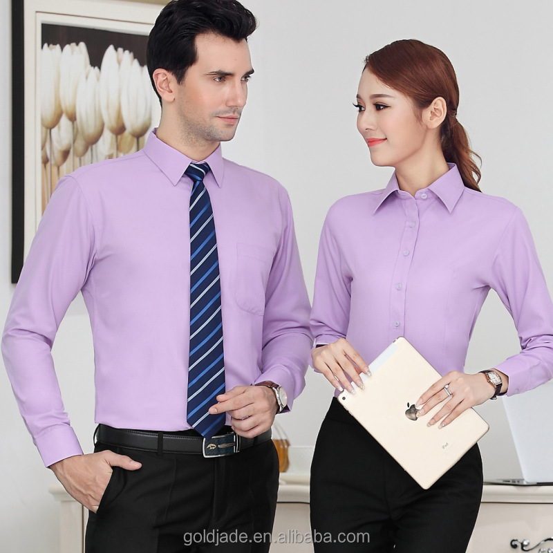Wholesale Workwear office wear shirts for men and women uniform Designs for women