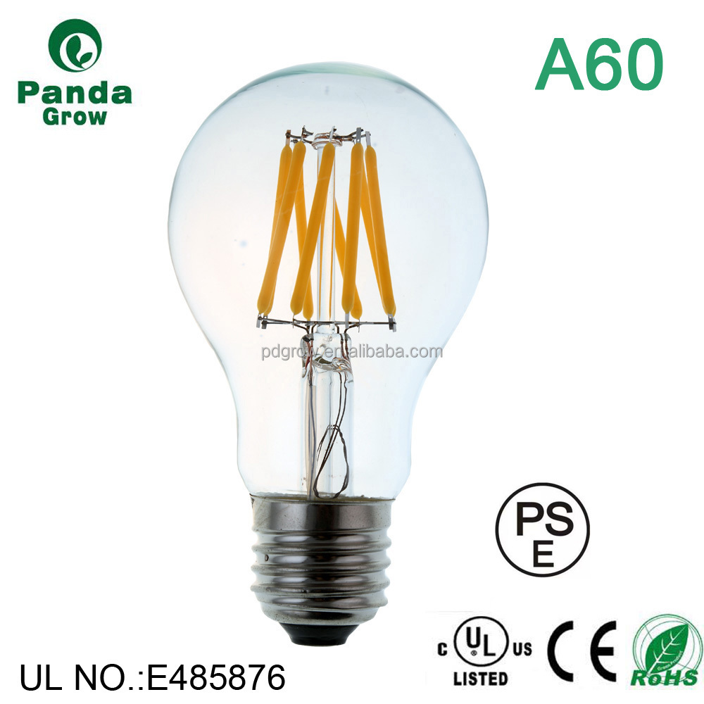 vintage cylinder A60 Sapphire filament dimmable led filament bulb