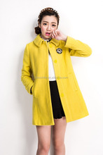 S31096A Clothes for young women high content wool coat simple style korea long coat