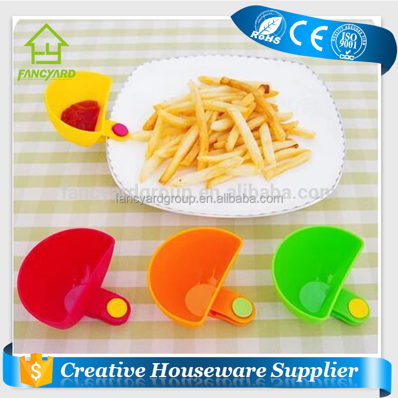 FY5159 Customized plastic salad bowl with dressing sauce cup