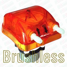 500ml, 2 Rollers, 12V Brushless Peristaltic Pump with Exchangeable Pump Head in Orange & FDA Approved PharMed BPT Peri-Tube