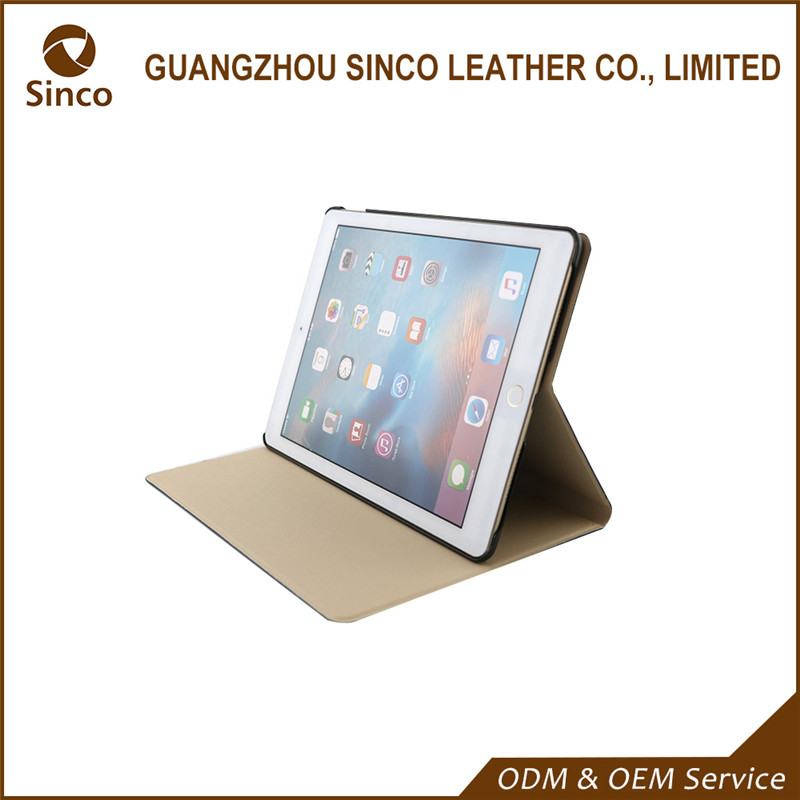 9.7 inch waterproof shockproof pu leather portfolio cases for iPad