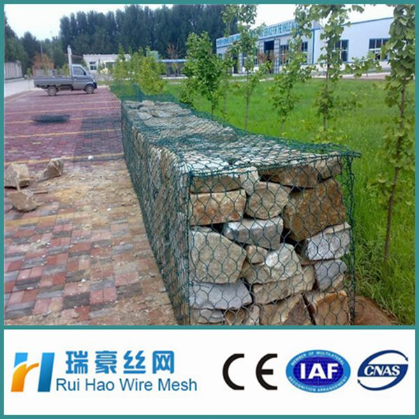 galvanized wire rock wall hexagonal gabion box