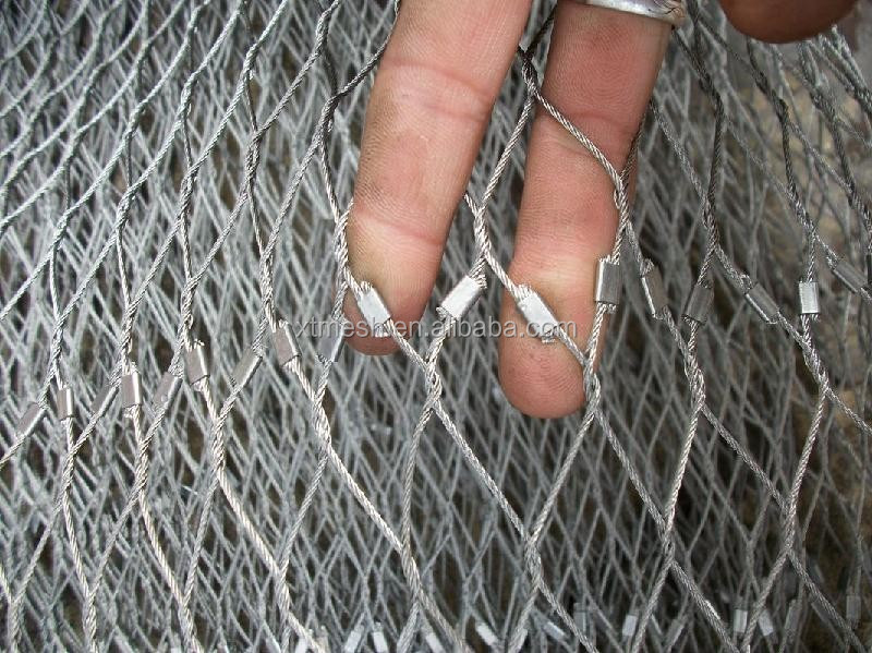 AISI 316 Flexible Stainless Steel Diamond <strong>Mesh</strong> For Architectural Surface