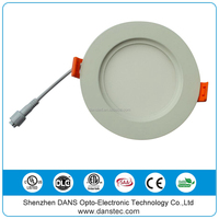 ETL cETL 4'' 9w 6'' 12w round Recessed hidden led panel lights for Canada USA
