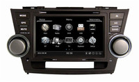 Android 4.0 A8 chipest 3G WIFI Car DVD for highlander with GPS, RADIO,BT, PHONEBOOK, 3 Zone POP