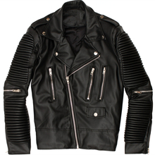 Wholesale custom fashion black PU motorcycle leather biker jacket