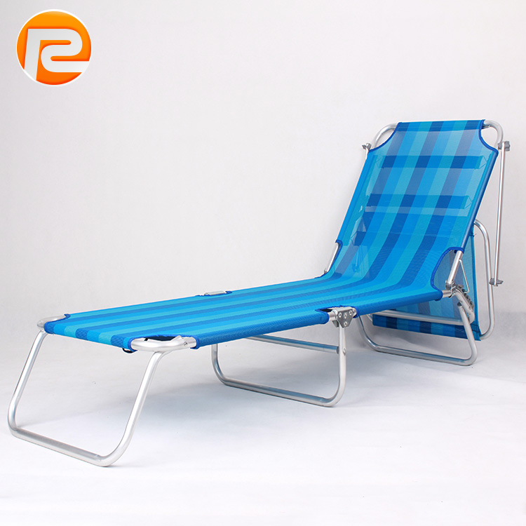 Outdoor ultra light aluminum single bed folding cot portable camping folding bed