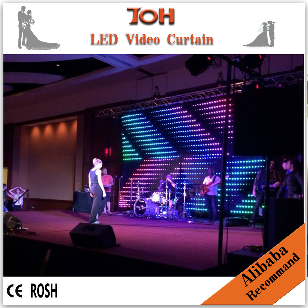 fireproof double-deck led video curtain cortinas led