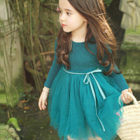 d73785h 2016 autumn newest baby frock design pictures wholesale girls long sleeve dress children tutu frock