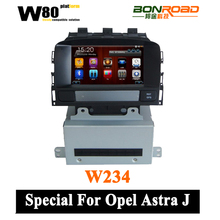 Wince 6.0 O.S OPEL ASTRA J Car DVD Head Unit with GPS Radio,Bluetooth,rearview camera