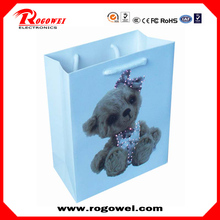 Brand new 2015 christmas glowing paper bag for wholesales